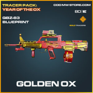 Golden OX QBZ-83 skin blueprint Black Ops Cold War and Warzone