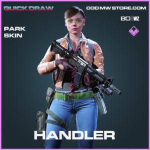 Handler park skin in Black Ops Cold War and Warzone
