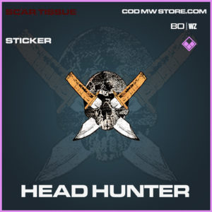 Head hUnter sticker in Black Ops Cold War and Warzone