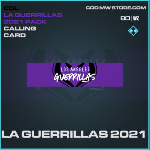 LA Guerrillas 2021 calling card in Black Ops Cold War and Warzone