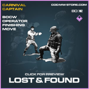 Lost & Found Finishing Move in Black Ops Cold War and Warzone