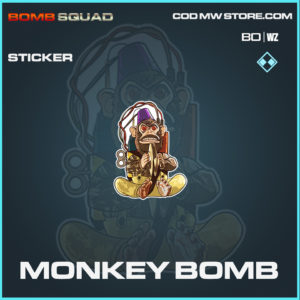 Monkey Bomb sticker in Cold War and Warzone