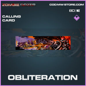 Obliteration Calling card in Black Ops Cold War and Warzone