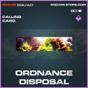 Ordnance Disposal calling card in Cold War and Warzone