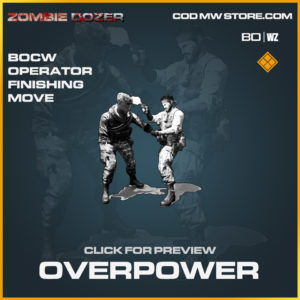 Overpower Finishing Move in Black Ops Cold War and Warzone