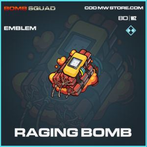 Raging Bomb emblem in Cold War and Warzone