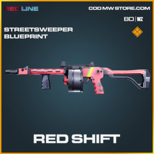 Red Shift Streetsweeper skin blueprint in Cold War and Warzone