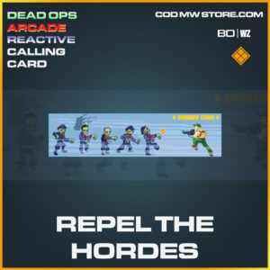 Repel the Hordes calling card in Cold War and Warzone