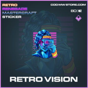 Retro Vision sticker in Black Ops and Warzone