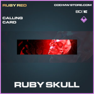 Ruby Skull calling card in Cold War and Warzone