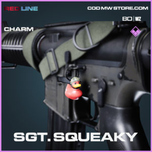 Sgt. Squeaky charm in COld War and Warzone
