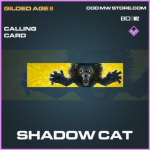shadow cat calling card in Cold War and Warzone