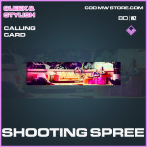 Shooting SPree calling card in Cold War and Warzone