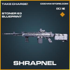 Shrapnel Stoner 63 blueprint skin in Cold War and Warzone