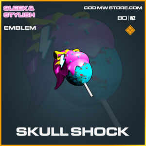Skull shock emblem in Cold War and Warzone
