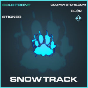 Snow Track Sticker in Black Ops Cold War and Warzone