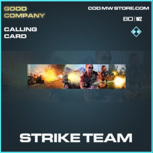 Strike team calling card in black ops cold war and warzone