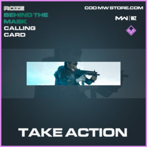 Take Actoin calling card in Modern Warfare and Warzone