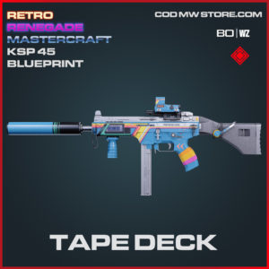 Tape Deck KSP 45 blueprint skin in Black Ops Cold War and Warzone