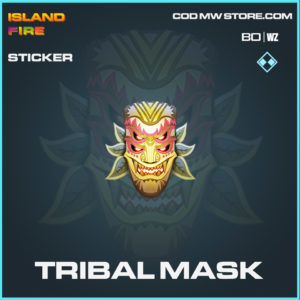 Triibal Mask sticker in COld War and Warzone