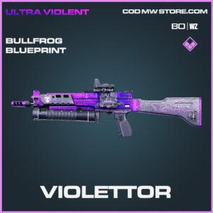 Violettor Bullfrog blueprint skin in Black Ops Cold War and Warzone