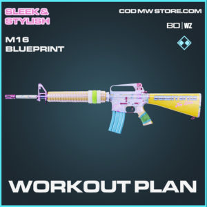 Workout Plan M16 bluepritn skin in Cold War and Warzone
