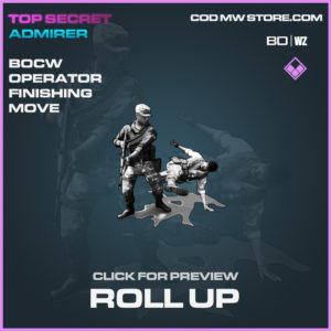 roll up bocw operator finishing move in Black Ops Cold War and Warzone