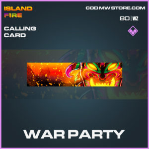 War party calling card COld War and Warzone