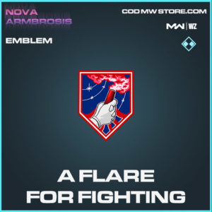 A Flare For Fighting emblem in in Modern Warfare and Warzone