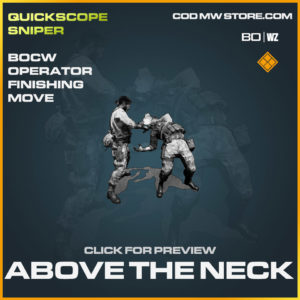 Above The Neck operator finishing move in Cold War and Warzone