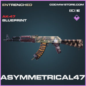 Asymmetrical47 AK-47 blueprint skin in Cold War and Warzone