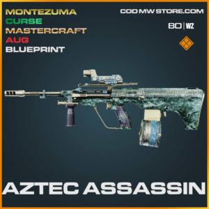 Aztec Assassin AUG blueprint skin in Cold War and Warzone