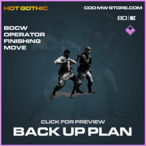 Back Up Plan Cold War Operator Finishing move warzone