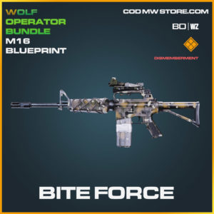 Bite Force M16 blueprint skin in Cold War and Warzone