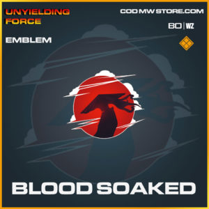 Blood Soaked emblem in Cold War and Warzone