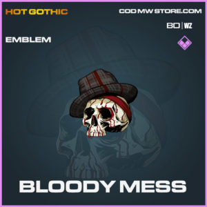 Bloody mess emblem in Cold War and Warzone