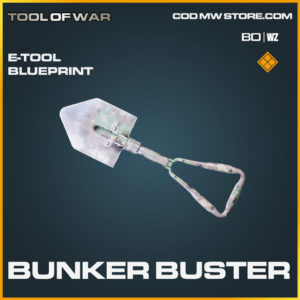 Bunker Buster E-Tool blueprint skin in Cold War and Warzone