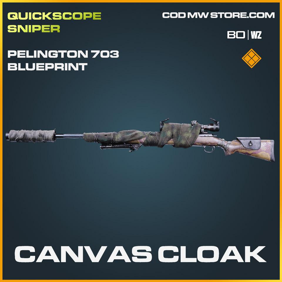 Canvas Cloak Pelington 703 blueprint skin in Cold War and Warzone