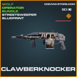 Clawberknocker streetsweeper blueprint skin in Cold War and Warzone