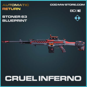 Cruel Inferno Stoner 63 blueprint skin in Cold War and Warzone