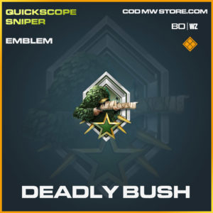 Deadly Bush emblem in Cold War and Warzone