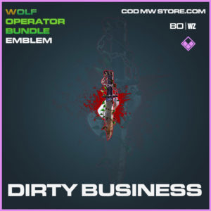 Dirty Business emblem in Cold War and Warzone