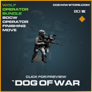 Dog of War Finishing Move in Cold War and Warzone