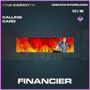 Financier calling card in Cold War and Warzone