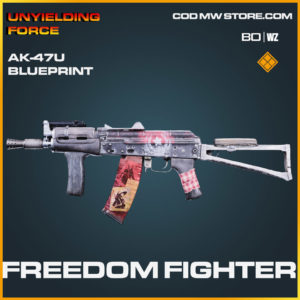 Freedom Fighter ak-47u blueprint skin in Cold War and Warzone
