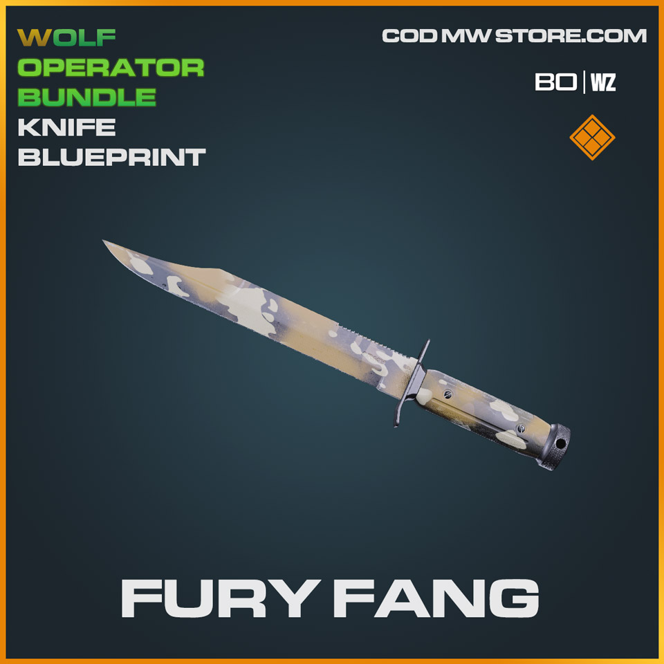 Fury Fang knife blueprint skin in Cold War and Warzone