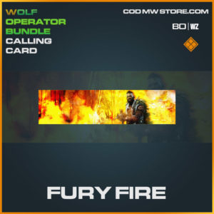 Fury Fire calling card in Cold War and Warzone