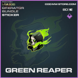 Green Reaper sticker in Cold War and Warzone