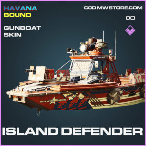 Island Defener gunboat skin in Cold War and Warzone