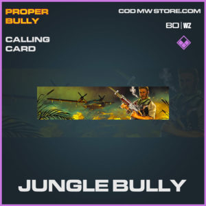 Jungle Bully calling card in Cold War and Warzone